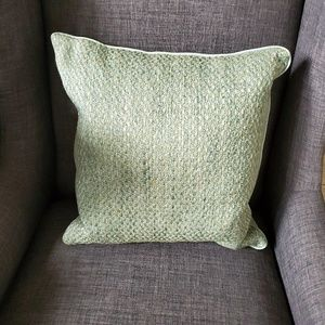 Throw Green Embroidered Square Pillow